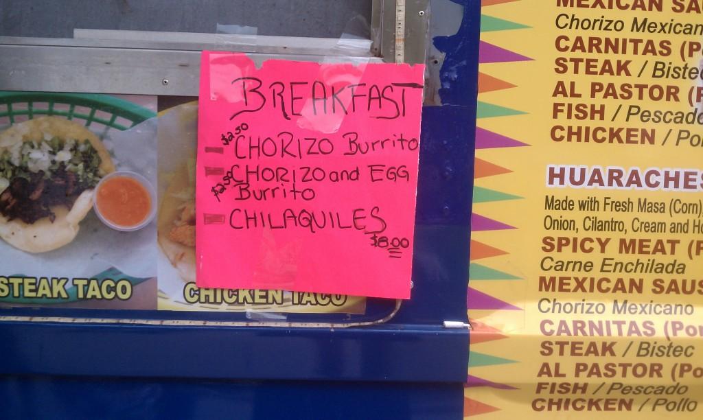 chilango breakfast